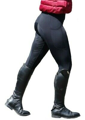 Women's Silicone Grip Horse Riding Leggings Tights Breeches With *Phone Pocket*