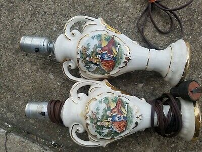 Pair of Victorian/Antique/vintage George/Martha Washington Small Lamps. Working.