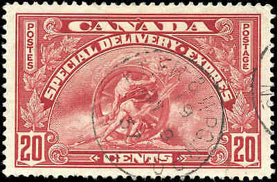 1935 Used Canada 20c Scott #E6 Special Delivery Stamp