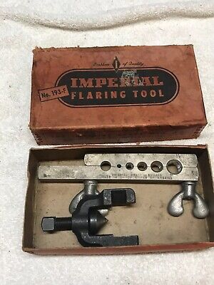 Imperial Brass Co. 193-F Flaring Tool USA In Original Box