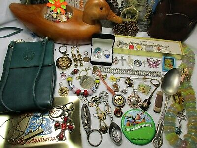 Mix Big Lot Junk Drawer Jewelry Vtg.Atq. Art Deco-Sterling Silver.925-Necklaces+