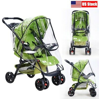 Waterproof Rain Cover Wind Shield Fit Most Universal Strollers Buggy Pushchairs