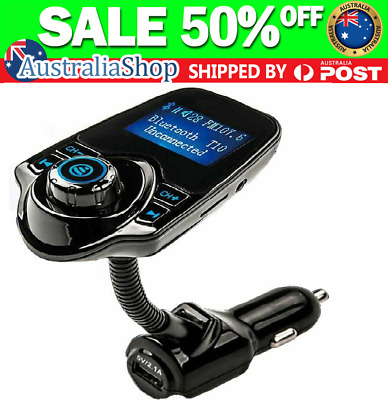 Wireless FM Transmitter Bluetooth Car Kit Radio Adapter Music Player USB Charger