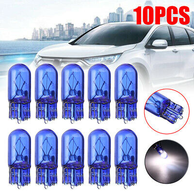 10x T10 168/W5W 5W Halogen Globe Xenon Sidelight Front Headlight Bulb White Hot