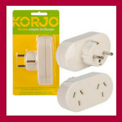 AU&NZ to EU AC Power Plug Adapter Travel2Pin Converter-from AUS Australian KORJO