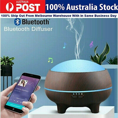 Wood Aroma Essential 300ML Oil Diffuser with Bluetooth Speakers Deep Sound AU