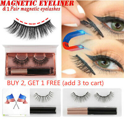 3a865d348f7 Magnetic Liquid Eyeliner With 3D Magnetic False Eyelashes Eye Makeup Tools  HOOT