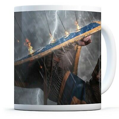 Medieval Knight Warrior - Drinks Mug Cup Kitchen Birthday Office Fun Gift #14825
