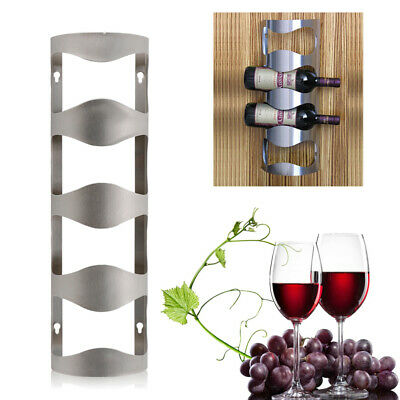 fdc01aedfc NEW Wine Bottle Rack Holder Display w/ Screws Wall Mounted Stainless Steel  US