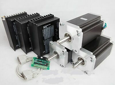 3Axis Nema42 Stepper Motor 4120oz-in 42HS6480&Driver DM2722A 110-220VAC CNC KIT