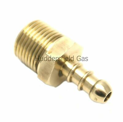 """British Made 1/2"""" BSPT MALE FITTING TO LPG FULHAM NOZZLE TO 8mm I/D HOSE (30)"""