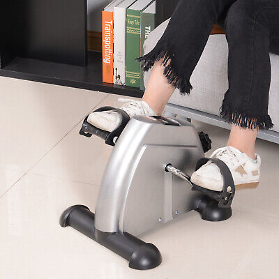 Soozier Portable Mini Pedal Exercise Bike Indoor Cycle Fitness Silver