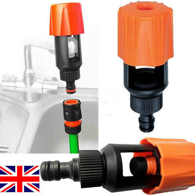 Universal Tap To Garden Hose Pipe Connector Kitchen Adapter Bath Tap Mixer UK