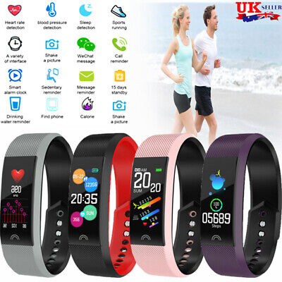 Bluetooth Fitness Activity Sports Step Tracker Heart Rate Monitor Fito Bit Style