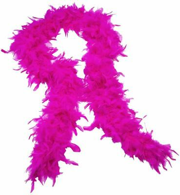 Hot Pink Fluffy Feather Boa Strip Wedding Bachelorette Dressup Party Events
