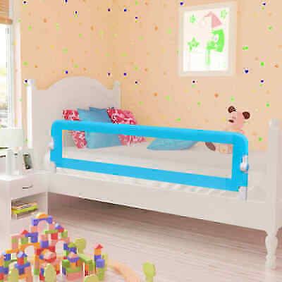Toddler Bed Guard Baby Safety Bed Rail Protection Guard 2 pcs Blue 150x42 cm
