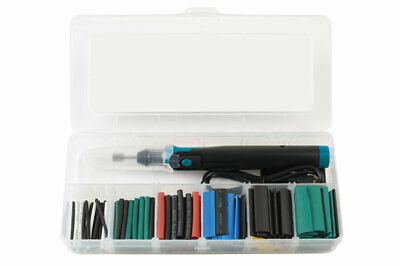 Rechargeable Torch Tool Kit With Led Light + Mixed Heat Shrink Tube Set In Case