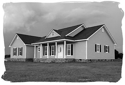 Ranch House Plans 1747 SF 3 Bed 2 Bath Open Floor Split BR (Blueprints) #1010