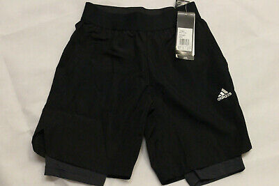 ADIDAS Kinder Football 2-in-1 Shorts CF6977 Schwarz Gr. 140 / S (c)