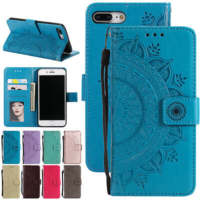 For iPhone SE 5s 6s 7 8 Plus Magnetic Leather Case Wallet Card Slot Flip Cover