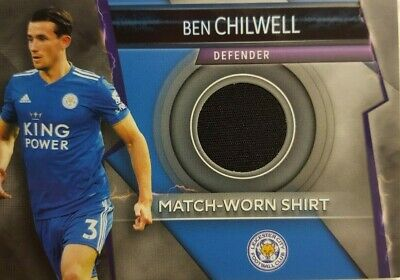 Match Attax ULTIMATE 2018/19 Match Worn Shirt Card BEN CHILWELL Leicester City