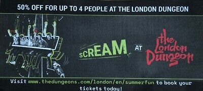 The London Dungeon 50% off Discount Ticket ADULT £15.00 or Child £12.00