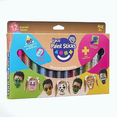 Little Brian LBFPS06CA12 Face Paint Sticks 12 Pack, Multi
