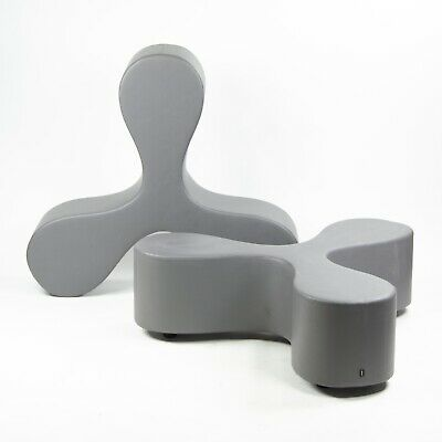 SANAA for Vitra Flower Seat Bench Lounge Chair Gray Eames Knoll Herman Miller
