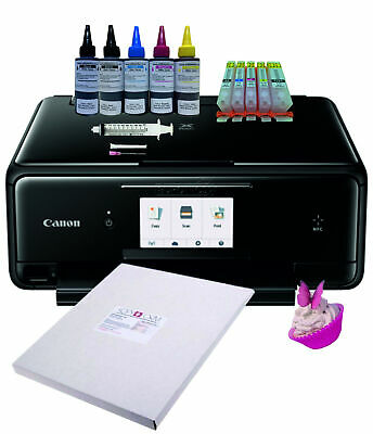 Edible Printer Bundle, TS5050, Refillable Cartridges, edible ink & Icing Sheets