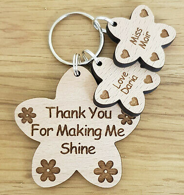 Personalised Thank You Gift For Teacher Gifts Nursery School End Of Term Keyring