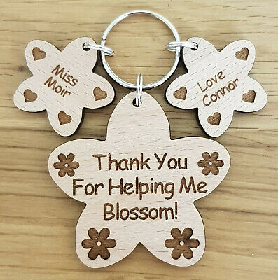 Personalised Thank You Gift For Teacher Gifts School Nursery End Of Term Keyring