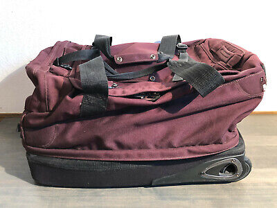 """Patagonia Wheeled Duffel 23"""" Large Rolling Travel Bag Luggage Suitcase in Purple"""