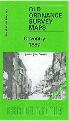 Old Ordnance Survey Map Coventry 1887 Coloured Edition
