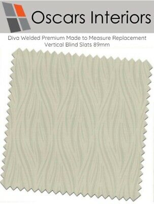 Made To Measure Washable Patterned PVC Vertical Blind Diva Cream