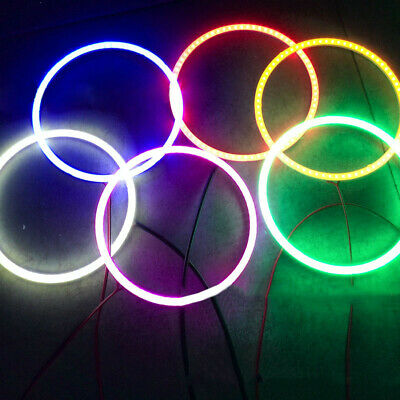 70-120mm LED Halo Ring 70~120mm w/ Cover 6 Colors Angel Eyes High Quality