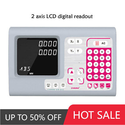 Machine Tool 2 Axis Digital Readout Dro Big LCD Display For Machines
