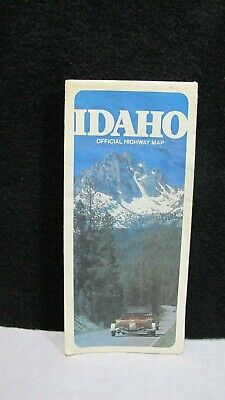 Vintage 1987 State of Idaho Highway Map Cecil D. Andrus Governor ~RARE~