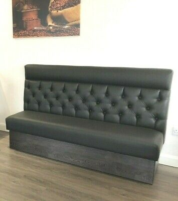 Mercedes Matt Black 3 Seater Booth Seating Chesterfield Black Only (SALE!)