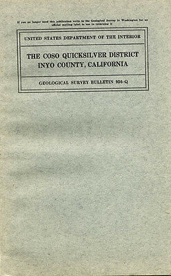 Coso mines, Owens Valley, Ridgecrest, Calif; RARE old 1st ed, BIG pullout maps !