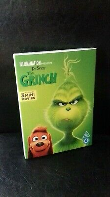 The Grinch (2018) - DVD - Incl: 3 Mini Movies - Brand New & Sealed (2019) W-SLIP