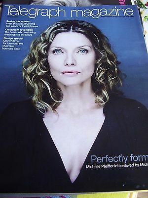 Vintage Telegraph Magazine April 2009 Michelle Pfeiffer Perfectly Formed