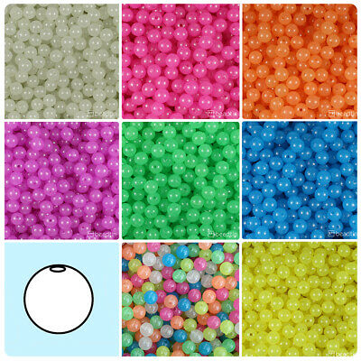 Color choice BeadTin Opaque 9mm Oat Plastic Beads 500pcs