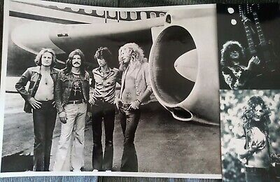 Led Zeppelin 11x14 Photo Jimmy Page Robert Plant 1970s Concert Print Glossy