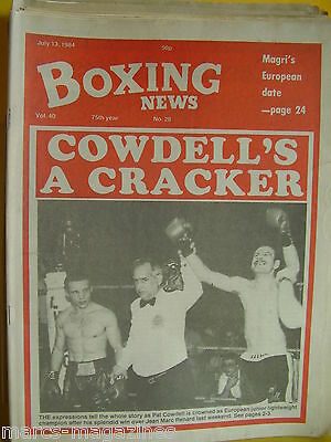 Boxing News July 13Th 1984 Pat Cowdell Roberto Duran Colin Jones Luigi Dominico
