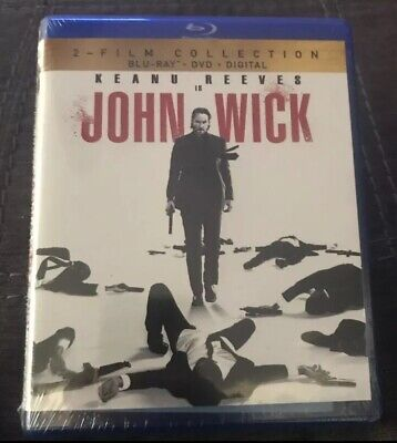 John Wick Chapter 1 & 2 Film Collection Set Blu Ray Dvd Digital Copy Code NEW