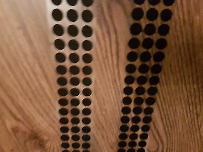 ALFATEX BY VELCRO® 10mm DOTS BLACK SELF ADHESIVE COINS 100 hook and 100 loop