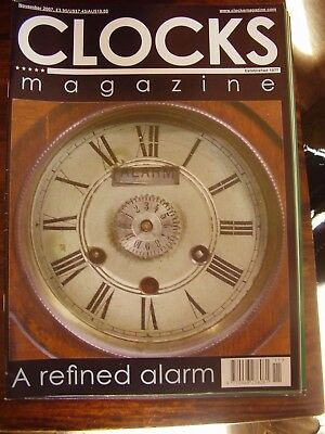 Clocks Mag November 2007 Dating A Longcase An Unusual Alarm