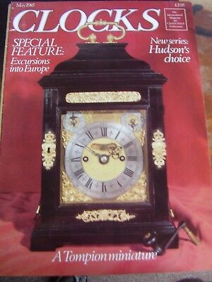 Clocks Mag May 1985 Andrew Dickie Verge Watch Astronomical Table Clock