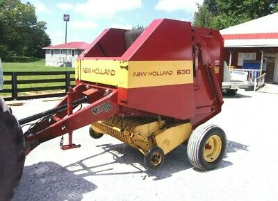 GEHL 1470 ROUND Baler Model Rb1470 Size 4X5 Works Well Used Last