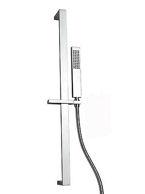 Italian Manufactured Chrome on Brass Slide Rail Kit with Hand Shower and Hose